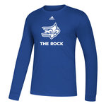 Adidas L/S Amplifier Tee- F/F over THE ROCK (white ink)
