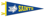 Collegiate Pacific 9X24 FlockPlus Wool Felt Pennant- Saints w/ F/F