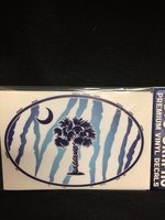 decal blue zebra